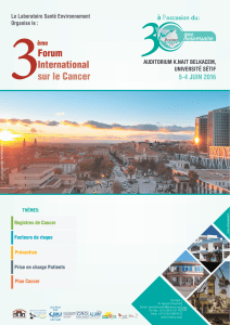 3 Forum International sur le Cancer