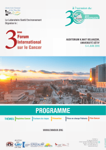 3 PROGRAMME Forum International