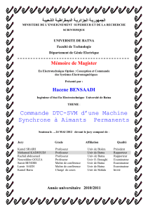 Mémoire de Magister رو ا ـ