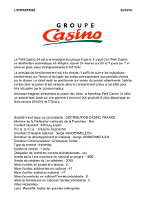 groupe Casino. en distribution automatique