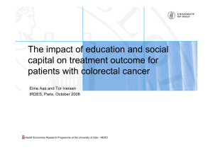 The impact of education and social capital on treatment outcome for