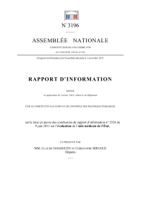 N 3196 ASSEMBLÉE   NATIONALE RAPPO RT  D'INFO RMATION