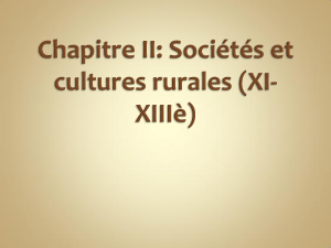 societes et cultures rurales
