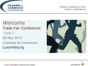 Welcome Trade Fair Conference  Luxembourg