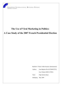The Use of Viral Marketing in Politics: J I