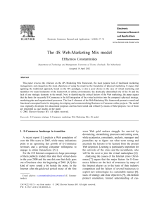 T he 4S Web-Marketing Mix model Efthymios Constantinides