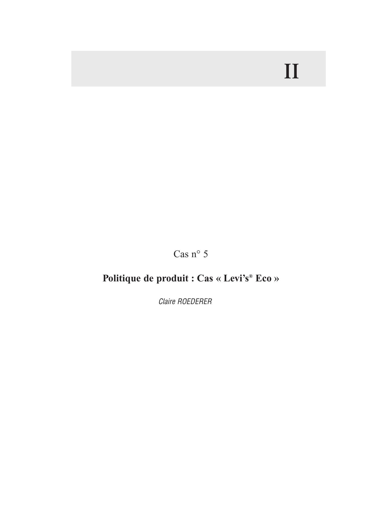6e2b5c23e1ad3 II Cas n° 5 Politique de produit : Cas « Levi's Eco »