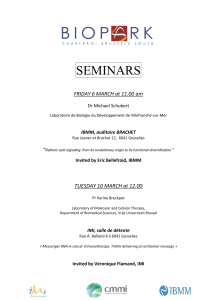 SEMINARS  FRIDAY 6 MARCH at 11.00 am Dr Michael Schubert