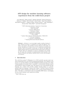 API design for machine learning software: experiences from the scikit-learn project