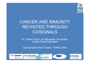 CANCER AND IMMUNITY REVISITED THROUGH COSIGNALS