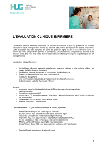 L'EVALUATION CLINIQUE INFIRMIERE