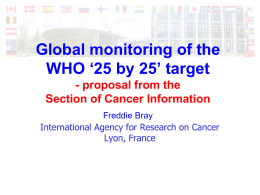 Global monitoring of the WHO '25 by 25' target