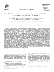 Radiation therapy alone or combined surgery and radiation therapy