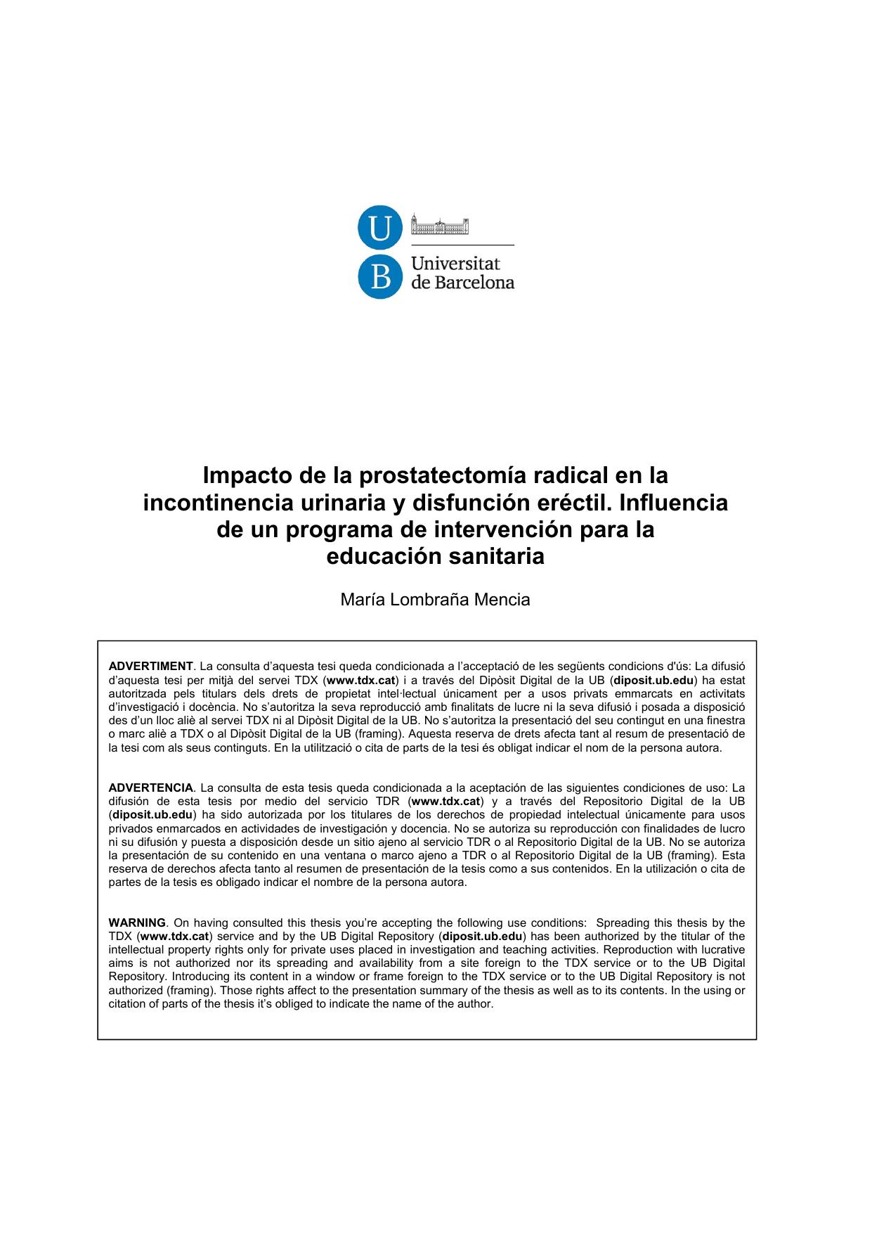 prostatectomía retropúbica radical manejo preoperatorio de la diabetes