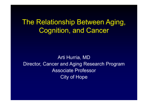 The Relationship Between Aging, C iti d C