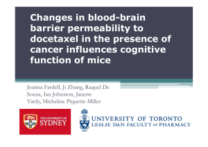 Changes in blood-brain barrier permeability to docetaxel in the presence of