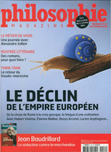 LE DECLI , DE L'EMPIRE EUROPEEN