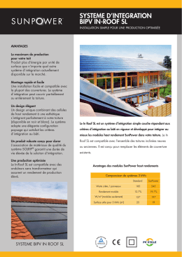 SYSTEME D'INTEGRATION BIPV IN-ROOF SL