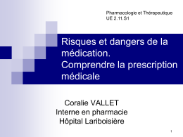 Risques et dangers de la médication. Comprendre la prescription médicale