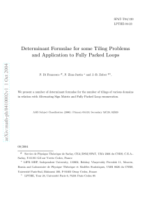 Determinant Formulae for some Tiling Problems and Application to Fully Packed Loops