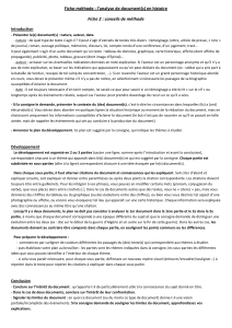 Fiche-méthode : l'analyse de document(s) en histoire Introduction