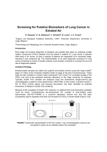 Screening for Putative Biomarkers of Lung Cancer in Exhaled Air