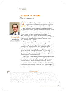 """ À Le cancer au féminin Women  and  cancer"