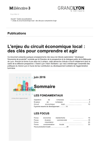 L'enjeu du circuit économique local : Publications