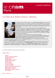 CentreCnamParis Les métiers de la famille Commerce - Marketing