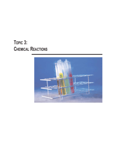 Topic 3: Chemical Reactions