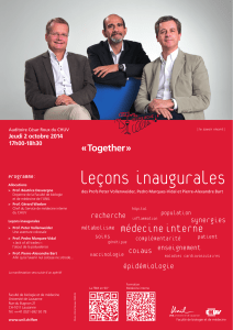 leçons inaugurales « Together » recherche synergies