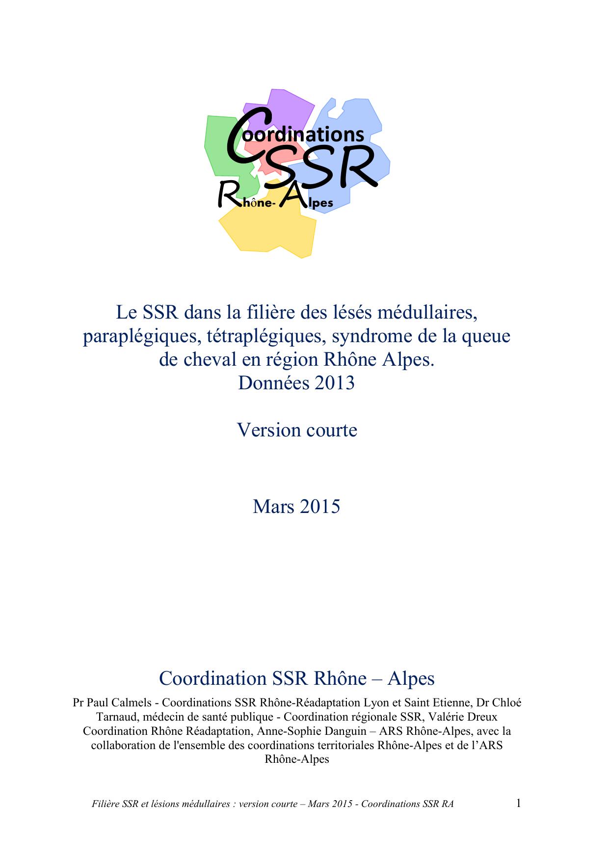 SSR R A oordinations