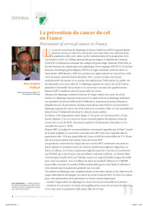 """ L La prévention du cancer du col en France"