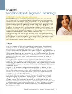 chapter 1 Radiation-Based Diagnostic Technology CASE STUDY: Francine Yellowquill - a Diagnosis