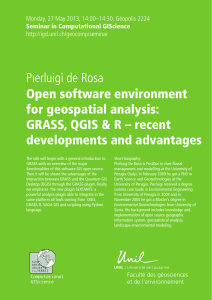 Open software environment for geospatial analysis: GRASS, QGIS & R – recent