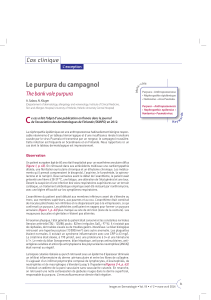 Le purpura du campagnol Cas clinique The bank vole purpura