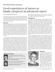by Lisa Cicchelli and Deborah McLeod advanced cancer