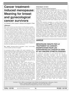 Cancer treatment- induced menopause: Literature review
