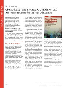 Chemotherapy and Biotherapy Guidelines, and Recommendations for Practice 4th Edition booK reVieW S