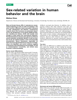 Sex-related variation in human behavior and the brain Melissa Hines