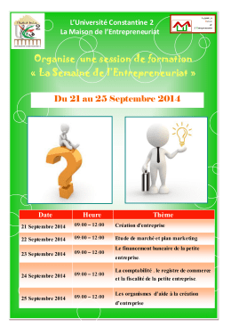Organise  une session de formation L'Université Constantine 2