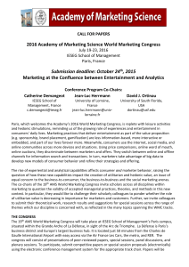 2016 Academy of Marketing Science World Marketing Congress , 2015