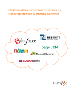 CRM Resellers: Grow Your Business by Reselling Inbound Marketing Software