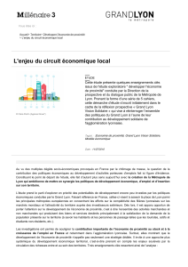 L'enjeu du circuit économique local