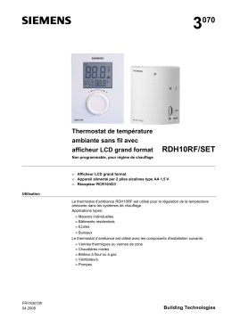 3 070 RDH10RF/SET Thermostat de température