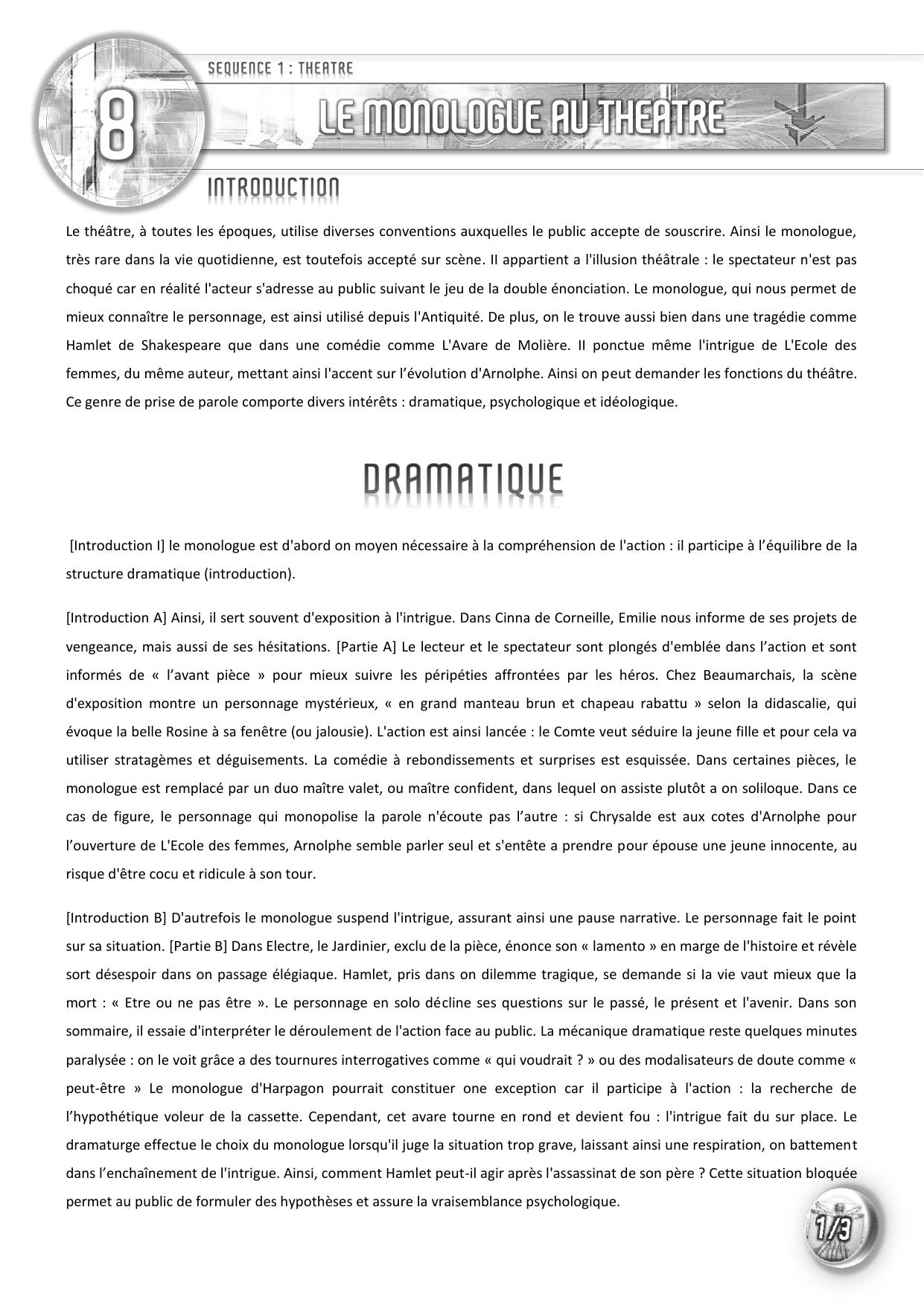 Dissertation comique theatre