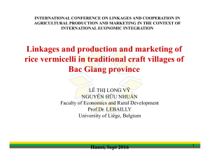 INTERNATIONAL CONFERENCE ON LINKAGES AND COOPERATION IN