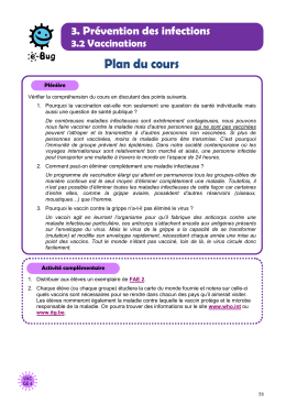 Vaccinations - Activit compl mentaire GE 4