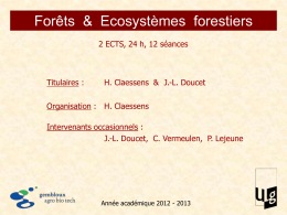 Forêts  &  Ecosystèmes  forestiers