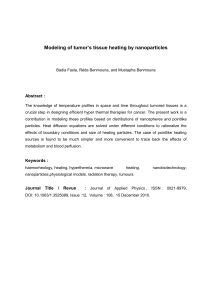 Modeling of tumor's tissue heating by nanoparticles Abstract :